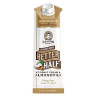 Califia Farms - Unsweetened Better Half Coffee Creamer, 32 Oz (Pack of 6) | Half and Half | Coconut Cream and Almond Milk | Dairy Free | Whole30 | Plant Based | Keto | Sugar Free | Shelf Stable