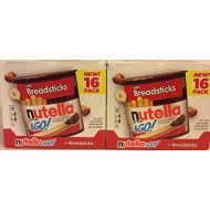 Nutella & Go Hazelnut Spread (2 Boxes of 16 pack in Each box Super Saver) with Breadsticks 28.80 oz - 1.8 oz Each 32 Pack Total