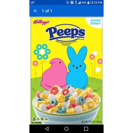Peeps Marshmallow Cereal Limited Edition Cereal