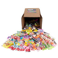 Your Favorite Mix Of Brand Name Candy! - A 6X6 Box (3.5 Lb.- 56 Oz.) Of Airheads, Laffy Taffy, Tootsie Rolls, Lemon Heads, Jaw Busters & More By Snackadilly