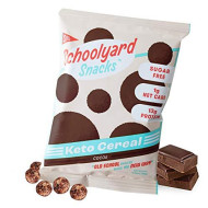 Schoolyard Snacks Low Carb Keto Cereal - Cocoa - High Protein - All Natural - Gluten & Grain-Free - Healthy Breakfast - Low Calorie Food - 12 Pack Single Serve Bags - 100 Calories Chocolate Snack