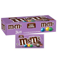 M&M'S Fudge Brownie Singles Size Chocolate Candy, 1.41 oz. 24-Count Box