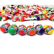 Crazy Outlet Lollipops Suckers Hard Candy, Assorted Fruit Flavors Mix - Bulk Pack 2 Lbs