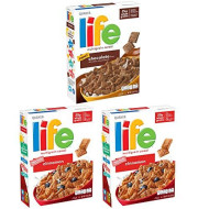 Life Breakfast Cereal, Chocolate And Cinnamon Variety Pack, 13Oz Boxes (3 Pack)