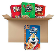 Kellogg'S Breakfast Cereal Variety Bundle - Froot Loops 10.1Oz, Frosted Flakes 13.5 Oz, Krave 11.4Oz, & Apple Jacks 10.1Oz, 45.1 Oz