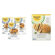Simple Mills Almond Flour Pancake Mix & Waffle Mix, Gluten Free, Made with whole foods, 3 Count & Almond Flour Baking Mix, Gluten Free Artisan Bread Mix, Made with whole foods