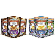 Birch Benders Keto Chocolate Chip Pancake & Waffle Mix with Almond/Coconut & Cassava Flour, Just Add Water, 3 Count & Waffle Mix by Birch Benders, Low-Carb, High Protein, 3 Pack (10oz each)