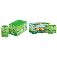 GoGo squeeZ Applesauce, Apple Apple, 3.2 Ounce (18 Pouches) & Applesauce, Variety Pack (Apple/Peach/GIMME 5), 3.2 Ounce (20 Pouches), Gluten Free, Vegan Friendly, Unsweetened, Recloseable