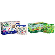 GoGo squeeZ yogurtZ, Variety Pack (Blueberry/Berry), 3 Ounce (60 Pouches) & Applesauce, Variety Pack (Apple/Banana/Strawberry), 3.2 Ounce (20 Pouches), Gluten Free, Vegan Friendly, Unsweetened