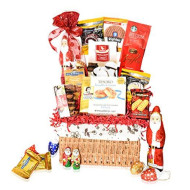 Christmas Gift Basket - Chocolate, Cookies, Gourmet, Snacks, Food, Holiday Gift Care Package for Family, Friends, College, Office, Men, Women, Students, Her, Mom and Dad
