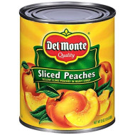 Del Monte Canned Peach Halves in Heavy Syrup, 29 Ounce (Pack of 6)